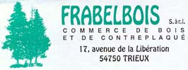 Chairs Distributor, Wholesaler Companies France  - Frabelbois Sciage Industriel